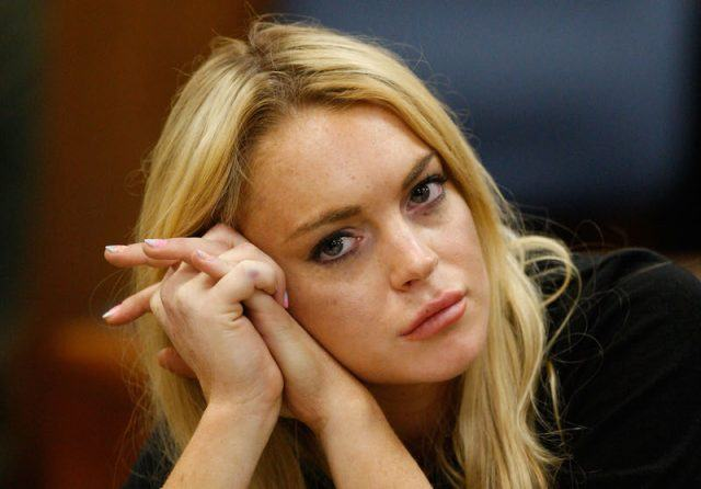 Lindsay Lohan during a court hearing.
