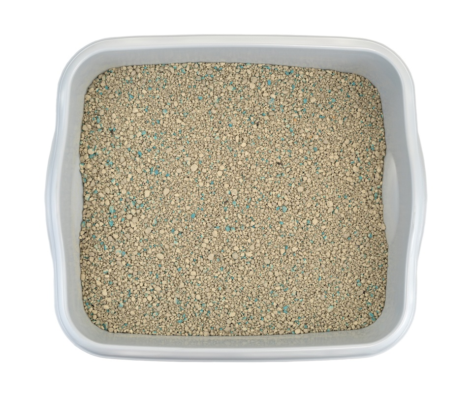 Ground clay cat litter