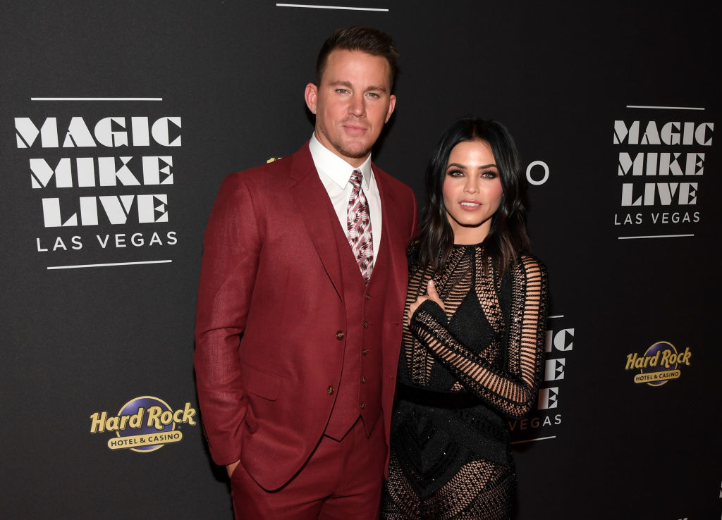 "Actor Channing Tatum and actress Jenna Dewan Tatum attend the grand opening of ""Magic Mike Live Las Vegas"" at the Hard Rock Hotel"