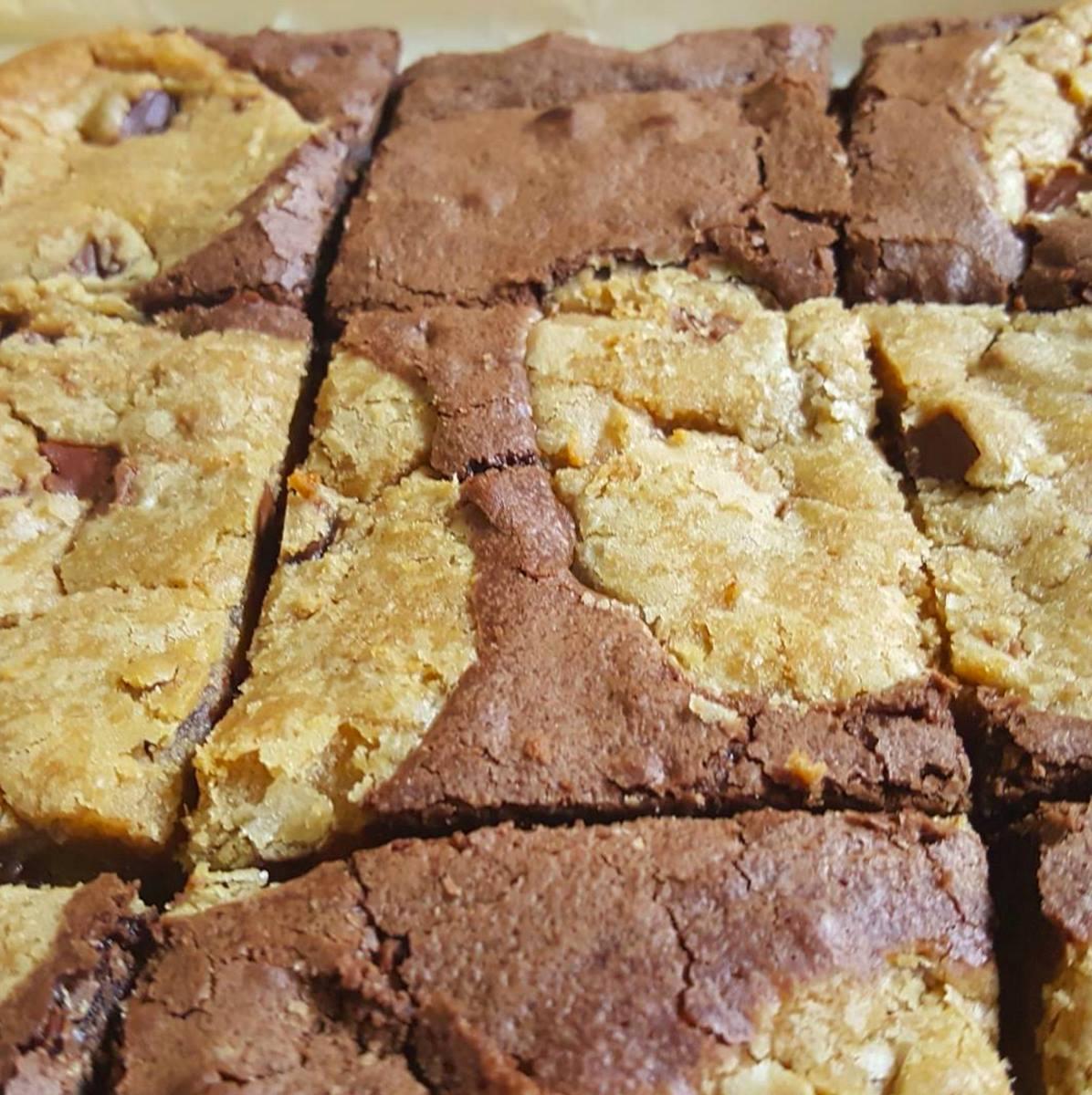 Marbled cookie brownie Dominos