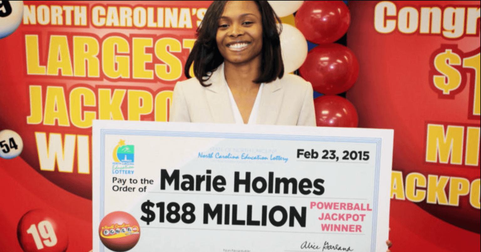 Marie Holmes lotto winner
