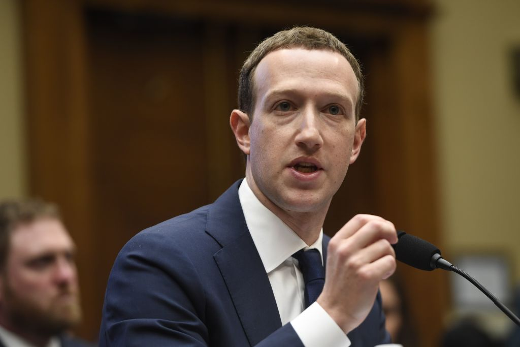 Facebook CEO and founder Mark Zuckerberg testifies during a US House Committee congress