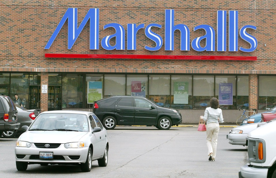 he front facade of a Marshalls store