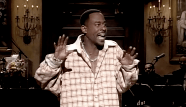 Martin Lawrence performing on stage.