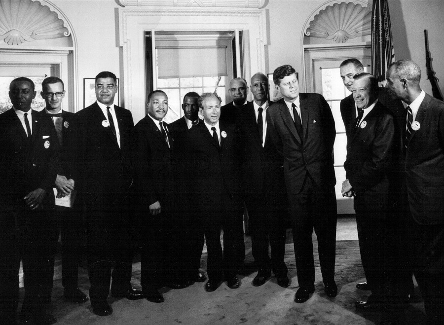 President John F. Kennedy meets with civil rights leaders at the White House