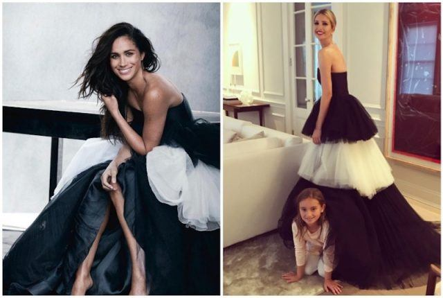 Ivanka Trump and Meghan Markle collage.