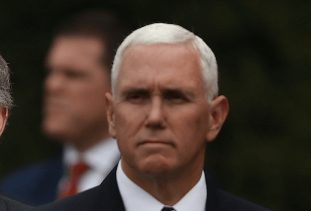 Mike Pence frowining.