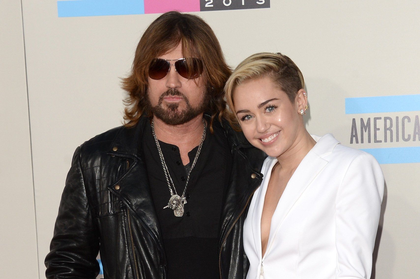 Miley and Billy Ray Cyrus