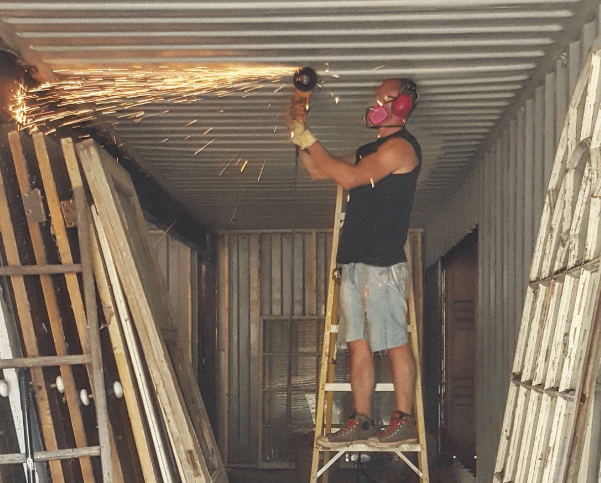 Missouri container home construction