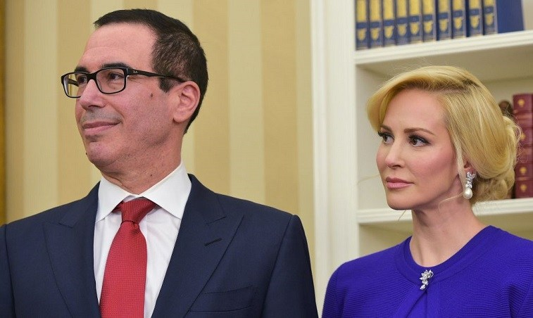 Steven Mnuchin and his wife, Louise Linton