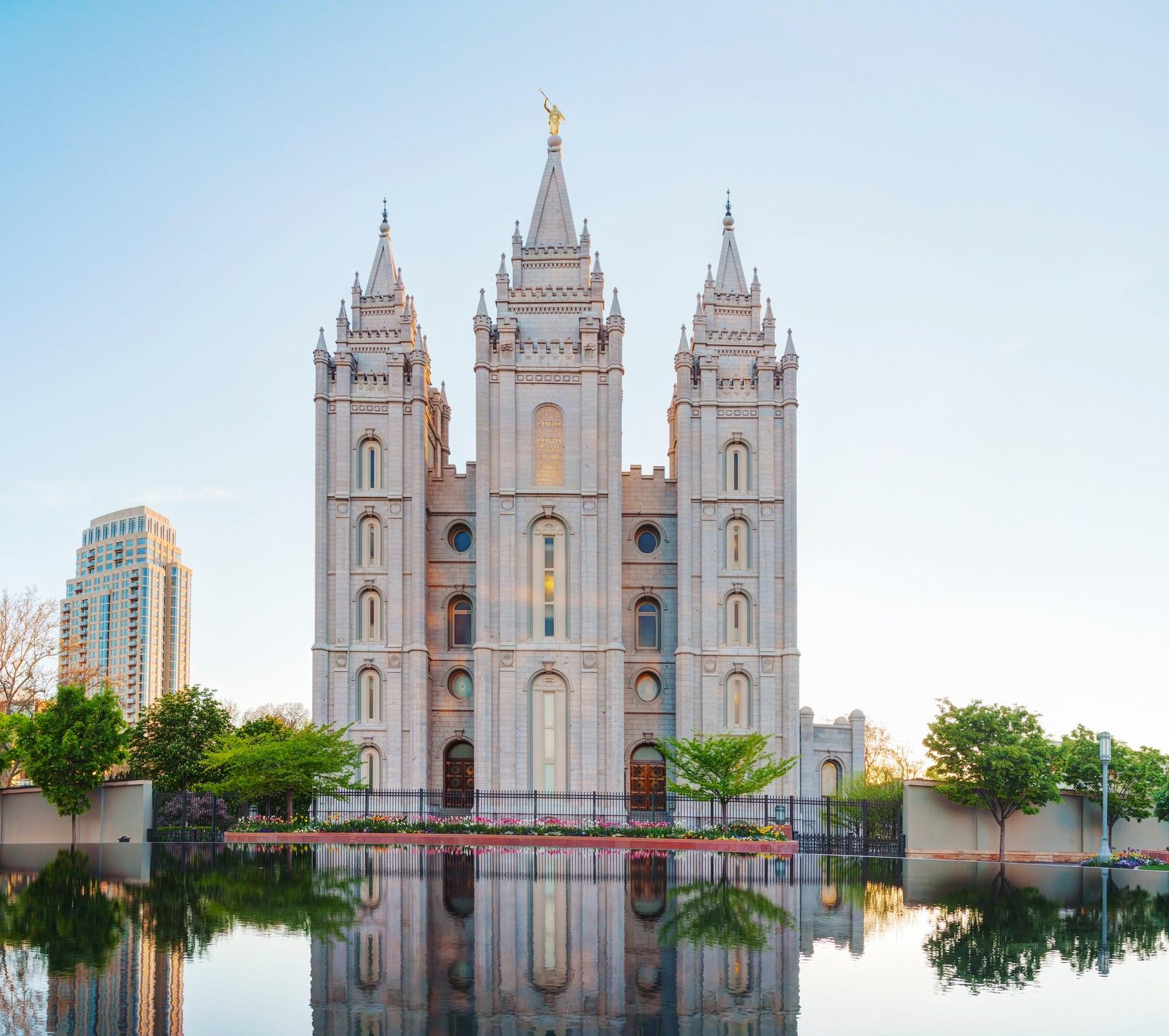 Mormons Temple in Salt Lake City, UT