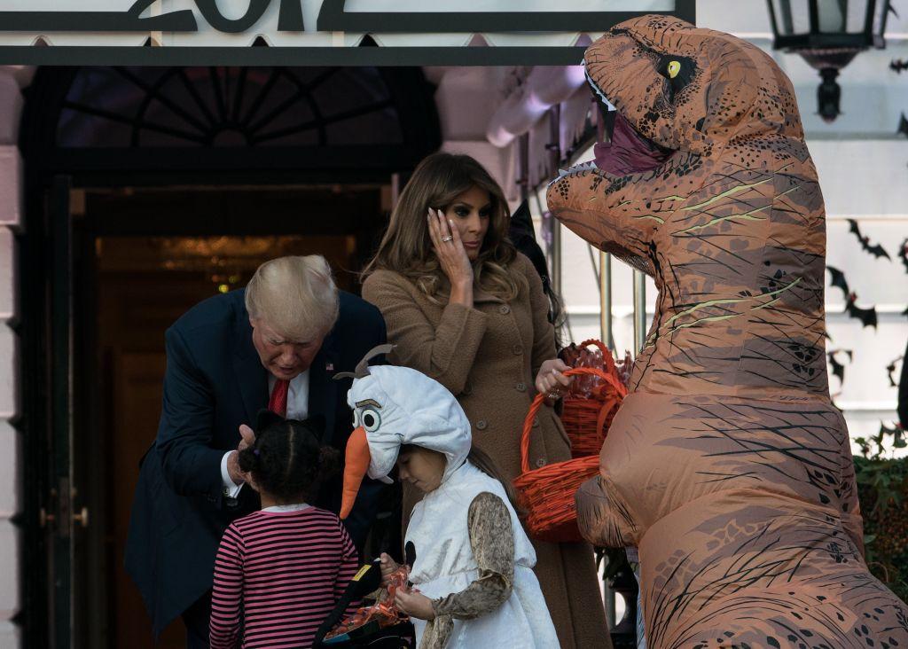 Donald and Melania Trump on Halloween