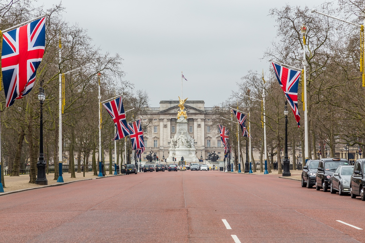 Buckingham Palace and the Mall in London
