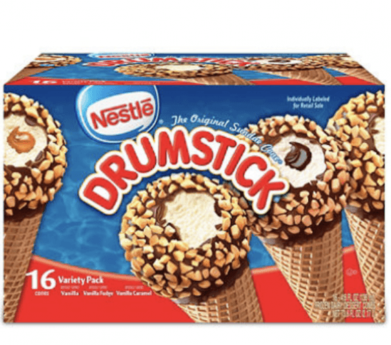 A box of Nestlee Drumsticks.