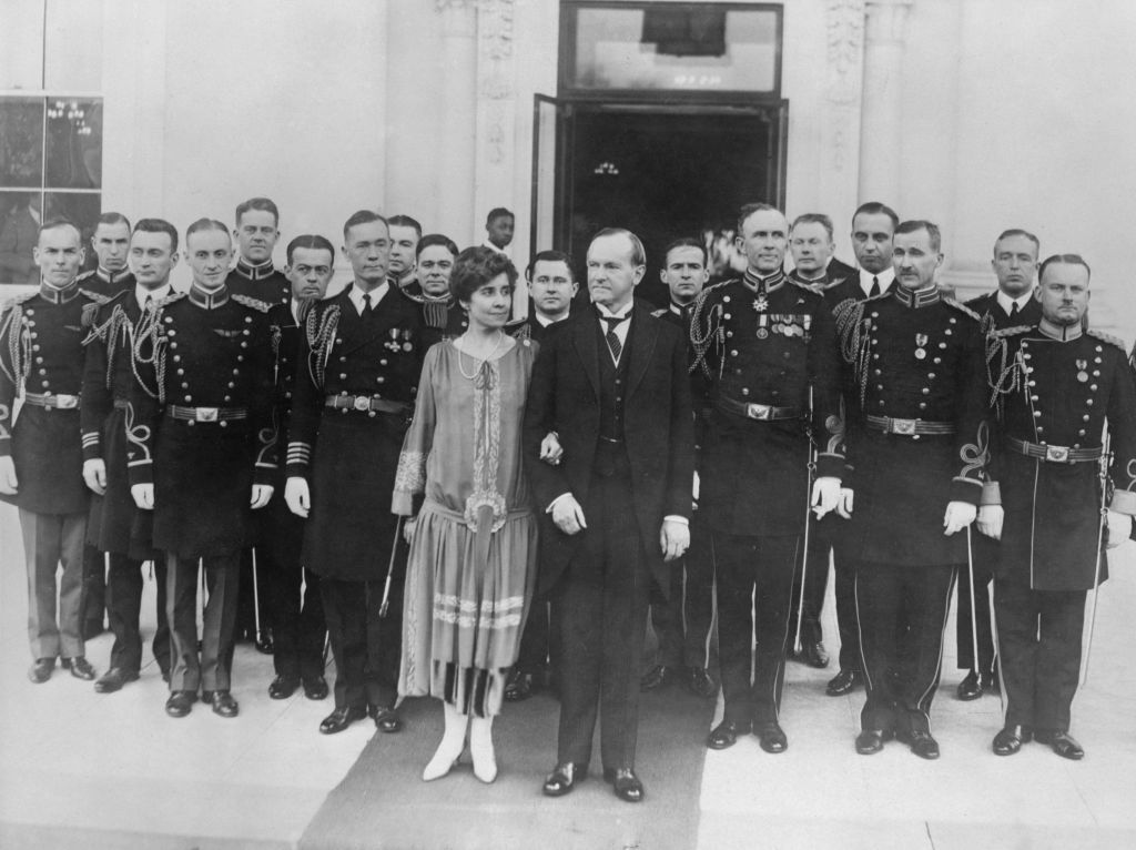 American President Calvin Coolidge New-Years-Day-receptions-and-parties