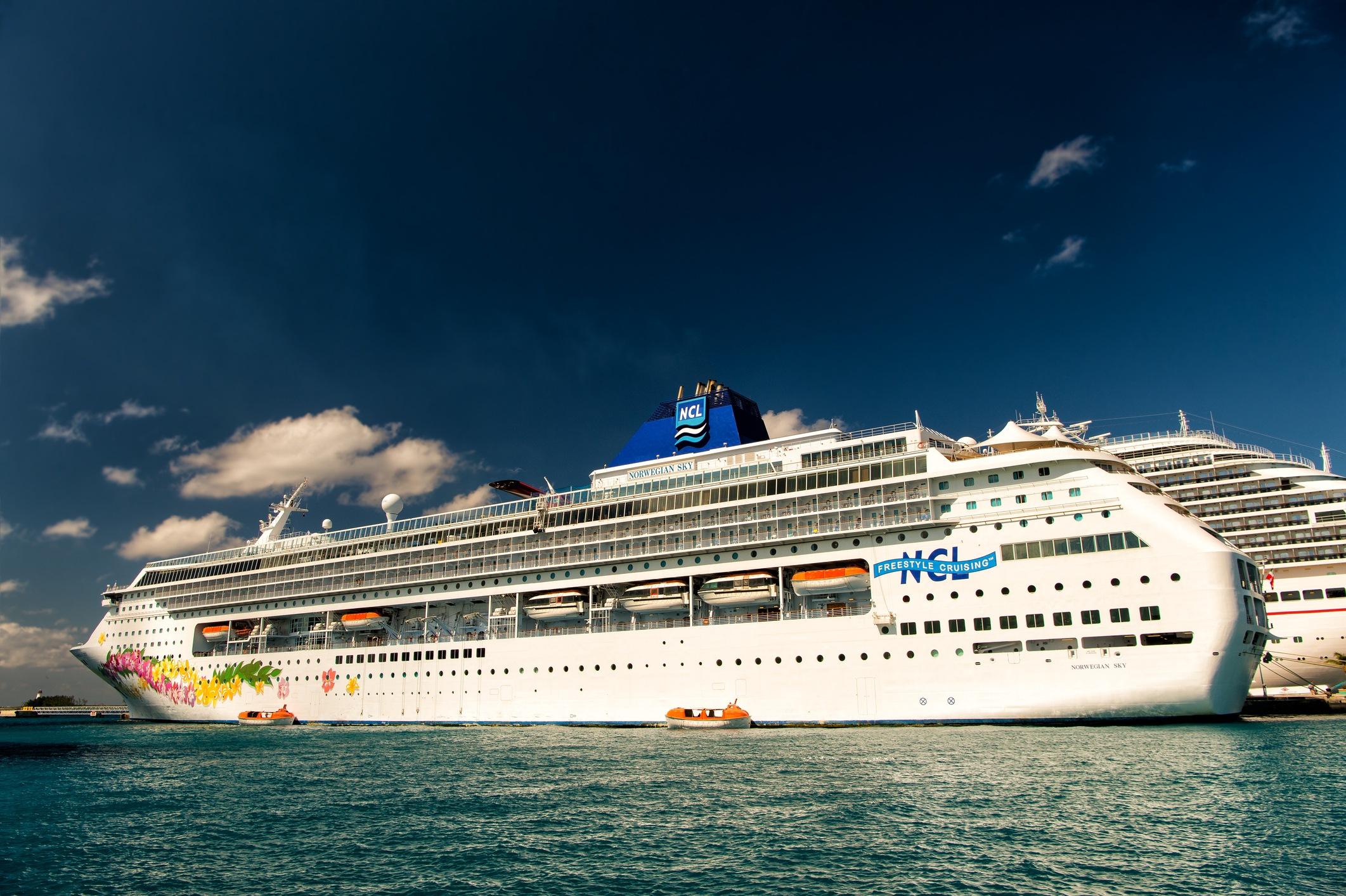 Big cruise ship Norwegian Sky