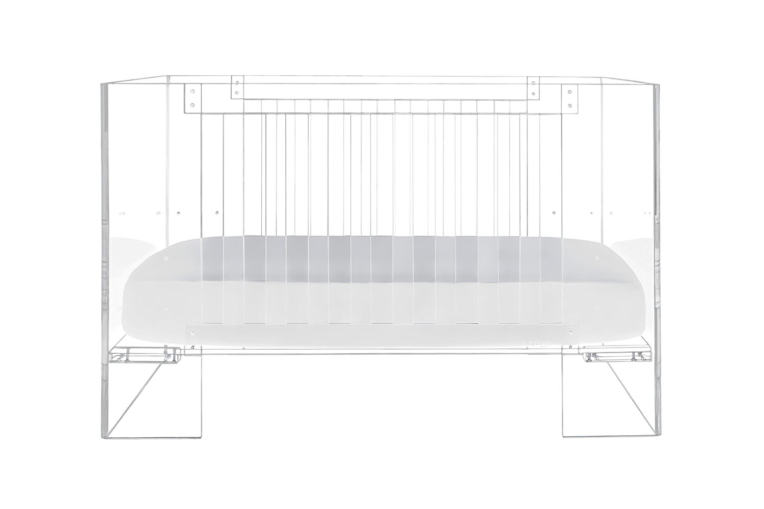 Nursery Works Vetro Crib, Clear Acrylic