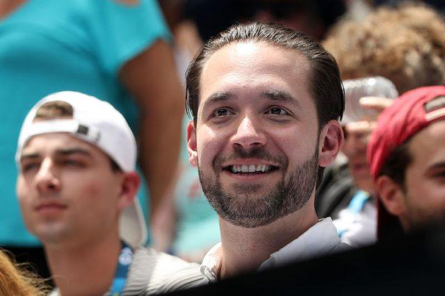 Alexis Ohanian during a tennis match.