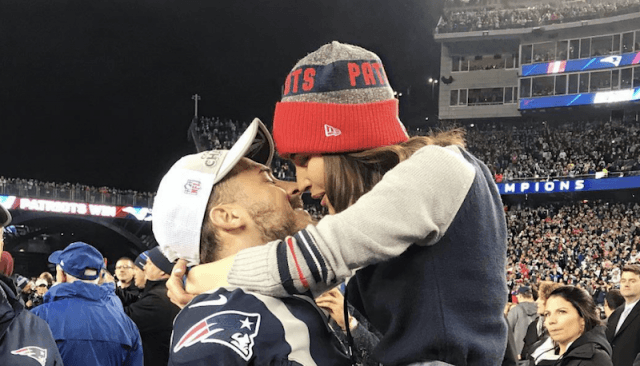 Amendola and Culpo embracing on a football field.