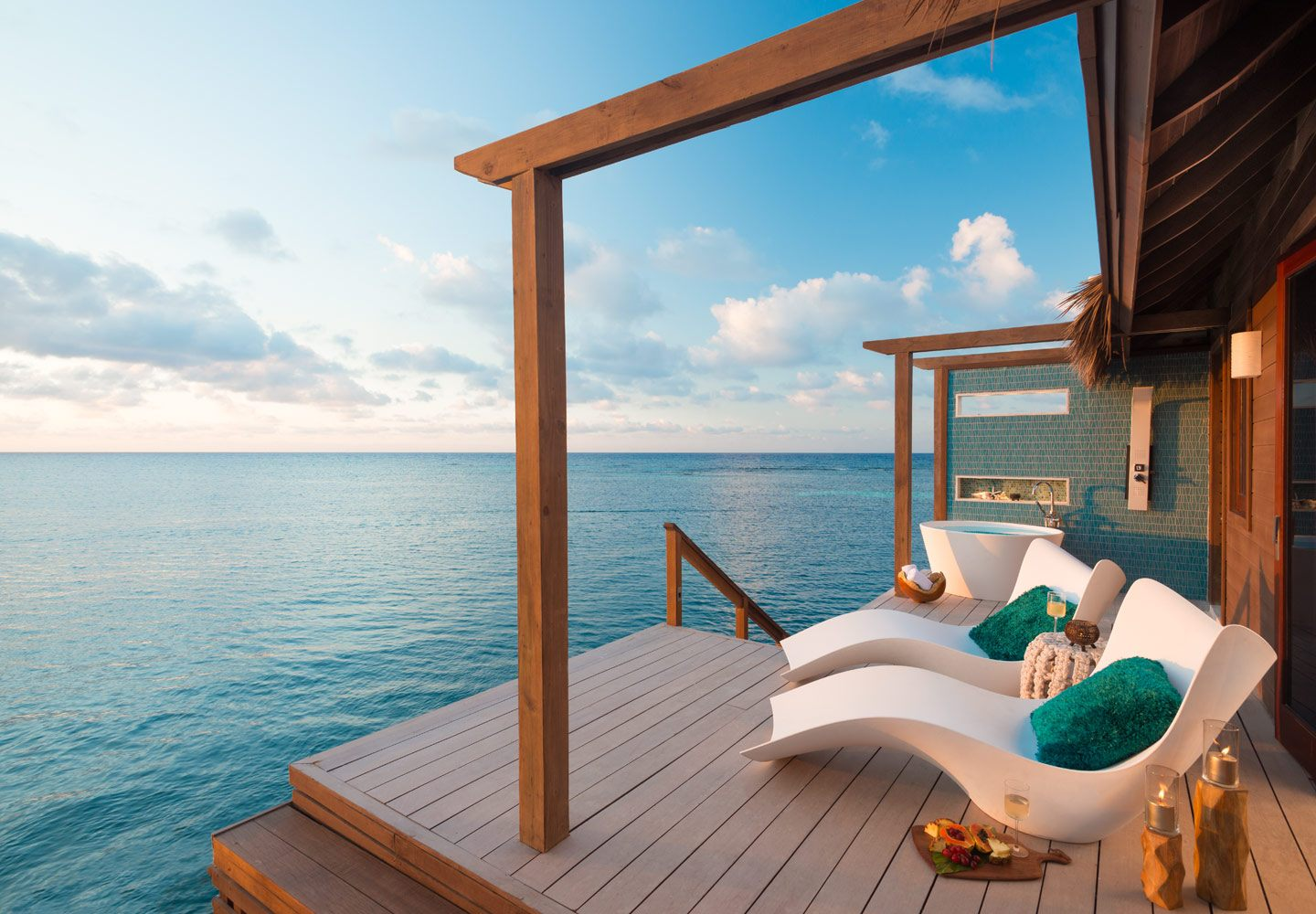 Overwater bungalo sandals resort