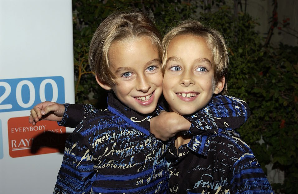 "Actors Sawyer and Sullivan Sweeten arrive at the party celebrating the 200th Episode of ""Everybody Loves Raymond"""