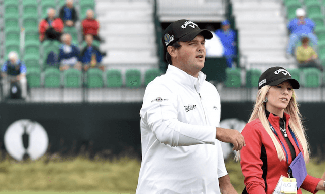 Patrick Reed and his wife.
