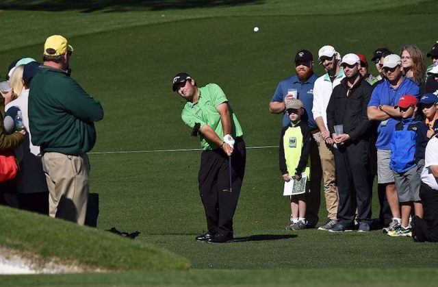 Patrick Reed on the golf course.