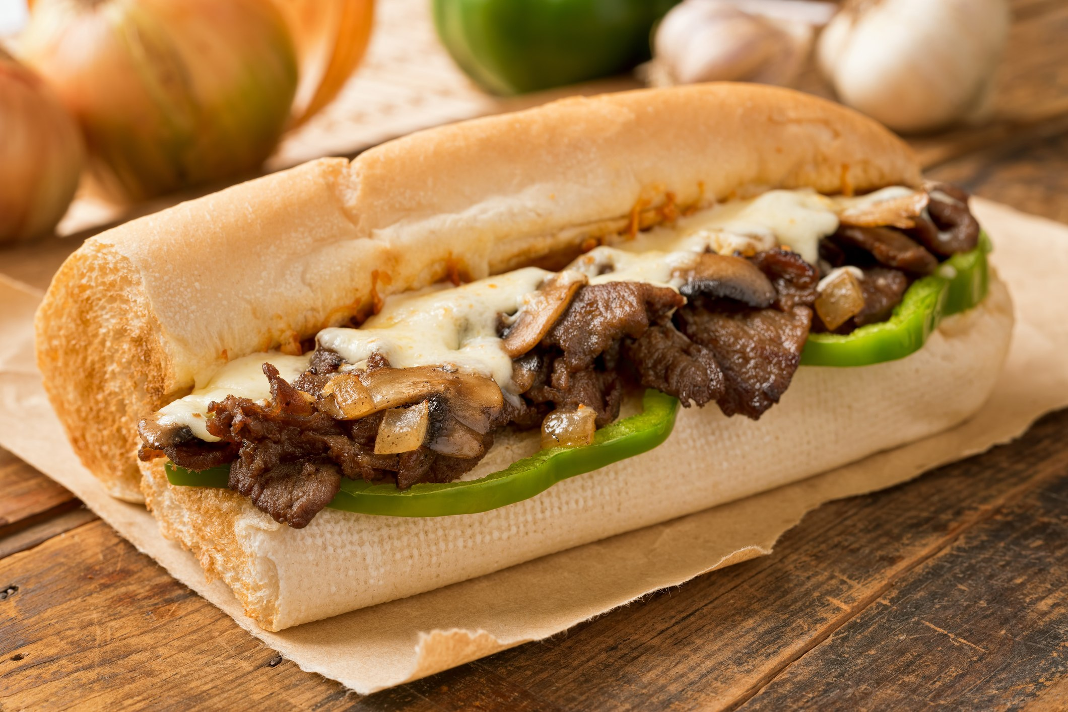 philly cheese Steak and Cheese Sub