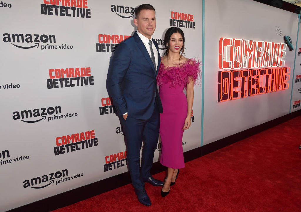 """Actors Channing Tatum and Jenna Dewan Tatum attend the premiere of Amazon's """"Comrade Detective"""" at ArcLight Hollywood"""