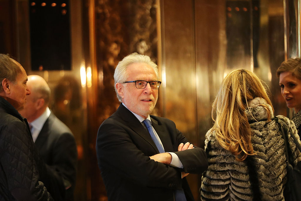 CNN's Wolf Blitzer arrives at Trump Tower