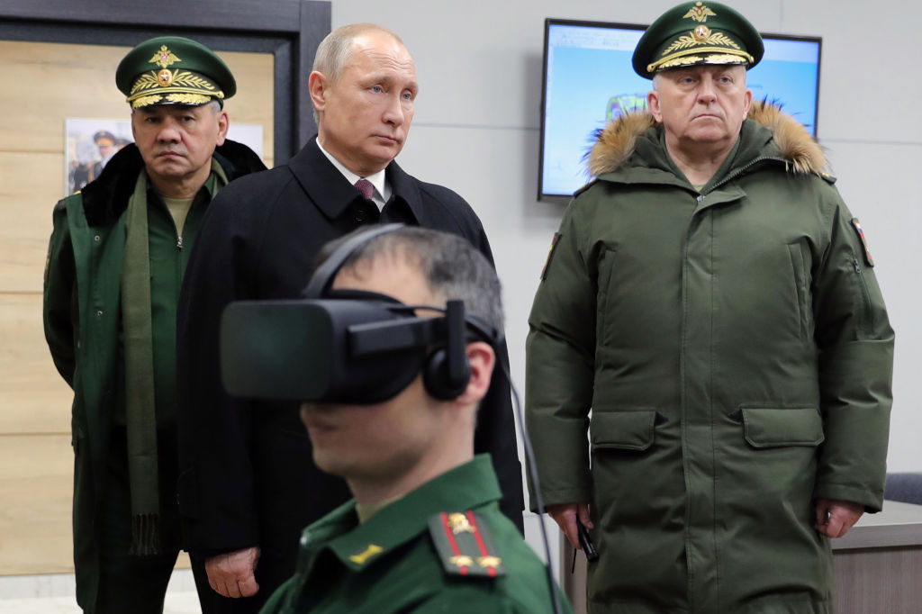 Vladimir Putin at the MIssile FOrces Academy