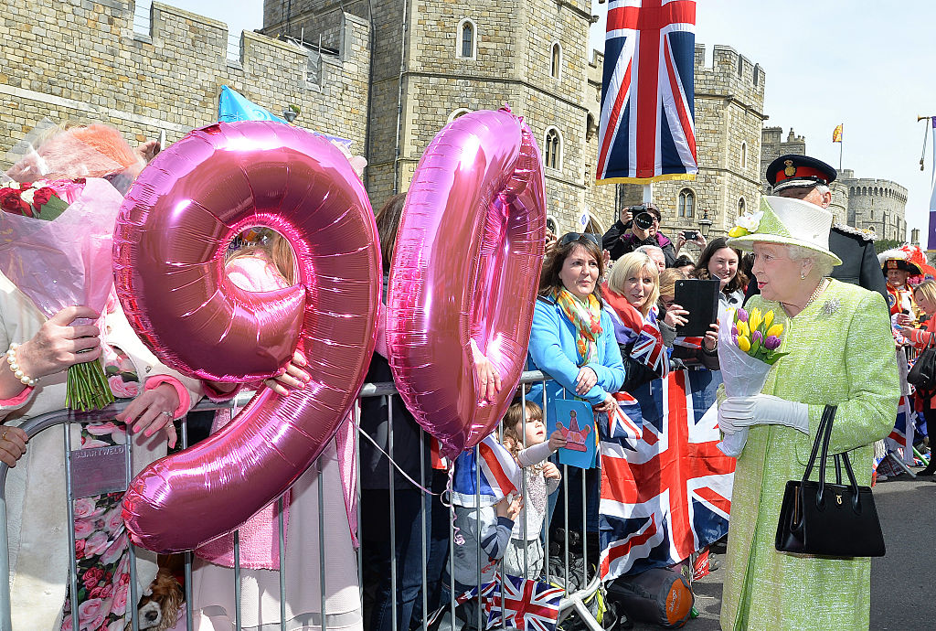 Queen Elizabeth II meets the public on her 90th Birthday Walkabout