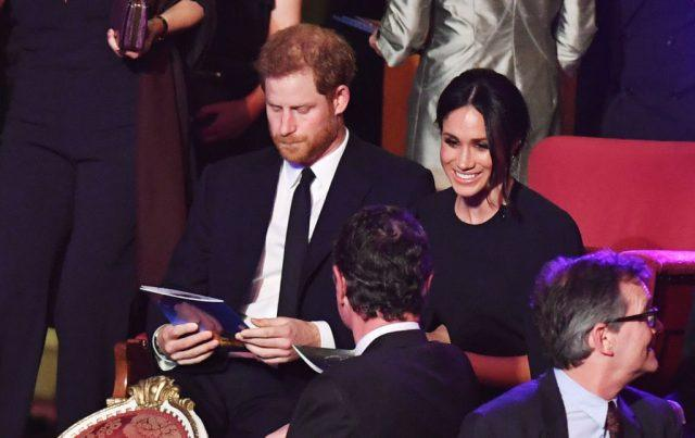 Prince Harry and Meghan Markle at The Queen's Birthday Party.