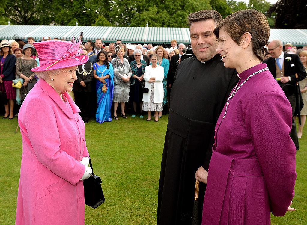 Queen Elizabeth II Hosts A Royal Garden Party