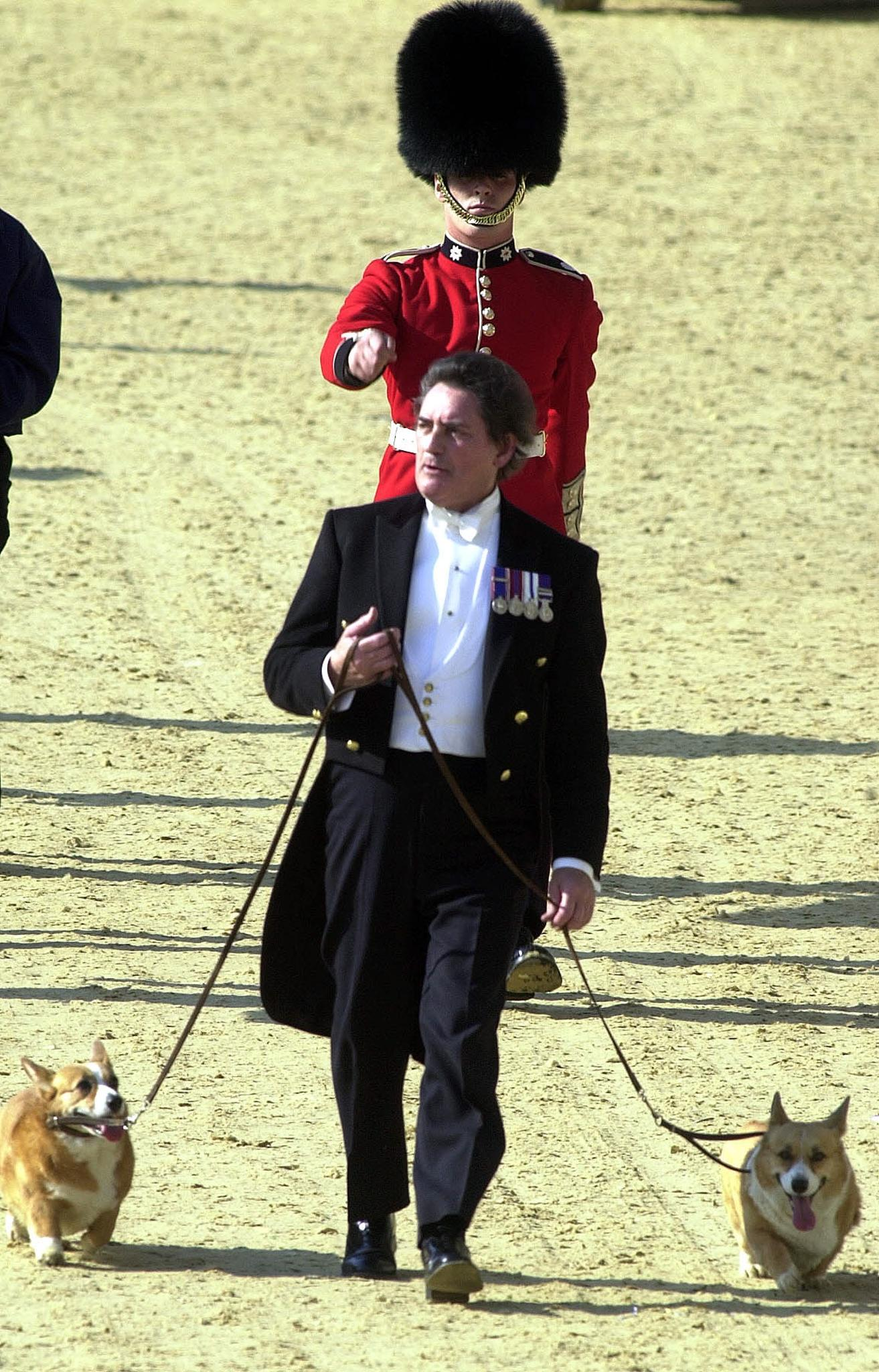 Two of the corgi dogs belonging to Britain's Queen