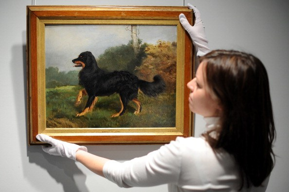 painting depicting Queen Victoria's favorite dog Sharp