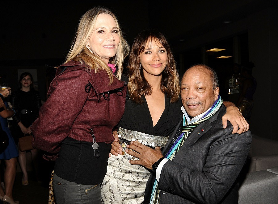 Quincy Jones and Peggy Lipton (with their daughter, Rashida Jones)