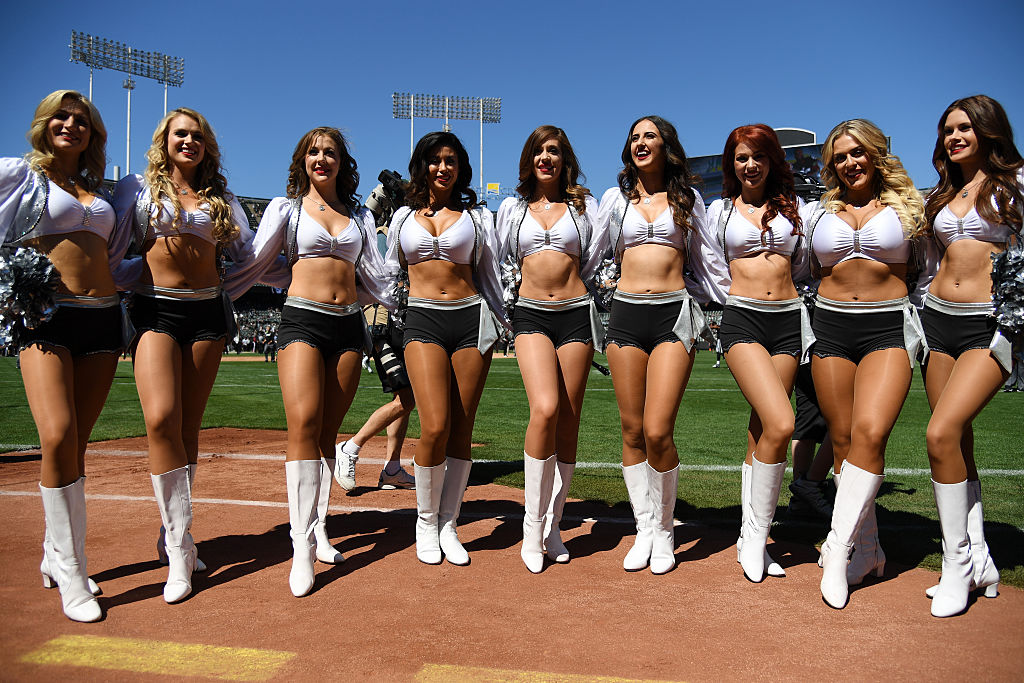 Nfl cheerleaders in pantyhose with