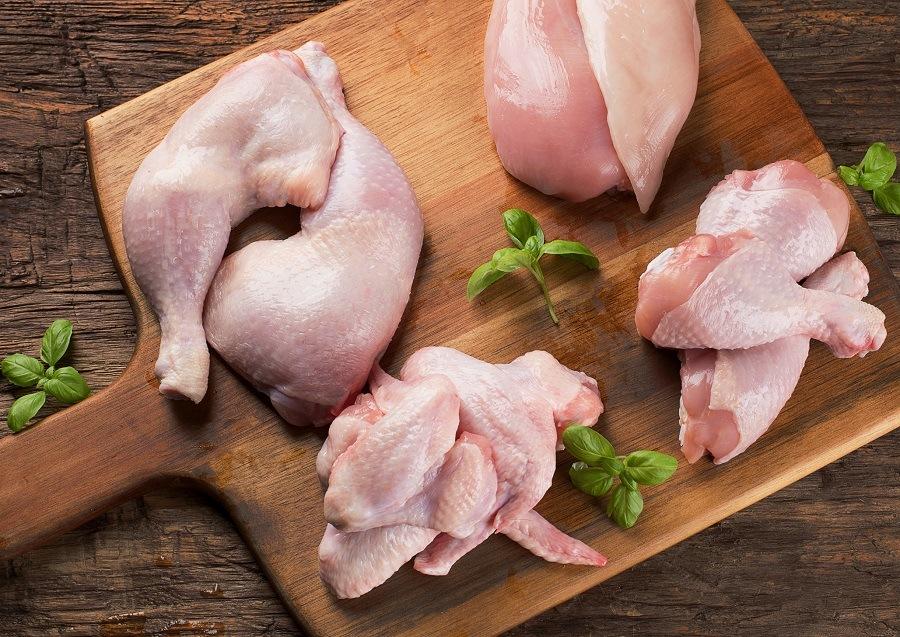Factory farmed meat