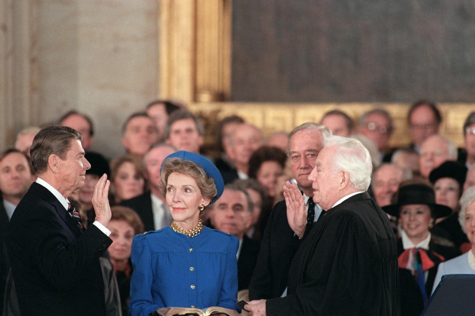 US President Ronald Reagan inauguration