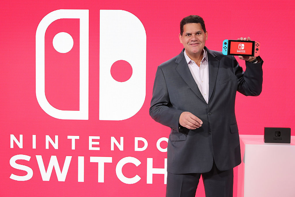 Reggie Fils-Aime at the Nintendo Switch Preview Event on January 13, 2017 in New York City.