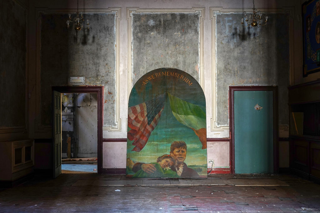 A painting of President John F. Kennedy