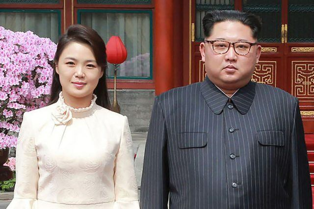 Kim Jong Un and Ri Sol-Ju in China.