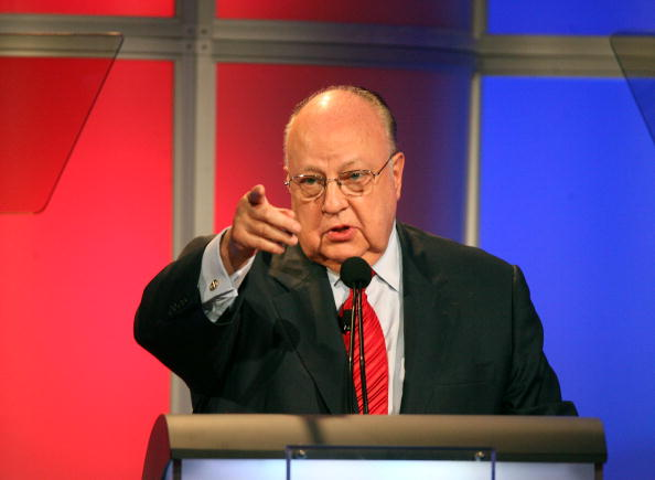 """Roger Ailes from """"Fox News"""" speaks onstage"""