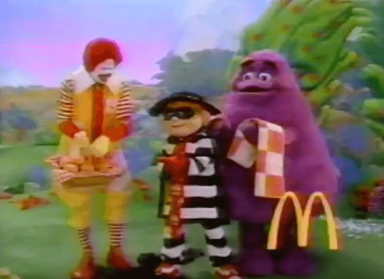 Ronald Mcdonald and friends