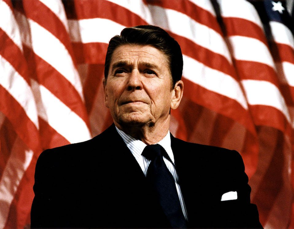Former U.S. President Ronald Reagan