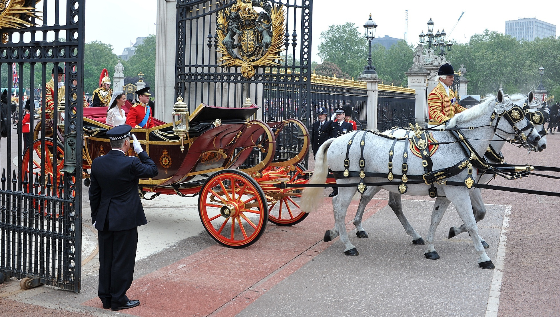 Prince William and Kate Middleton wedding horse and carriage