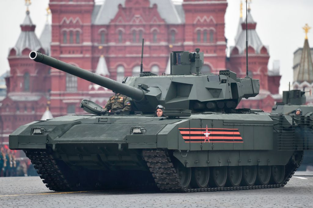 Russian Tank in Red square