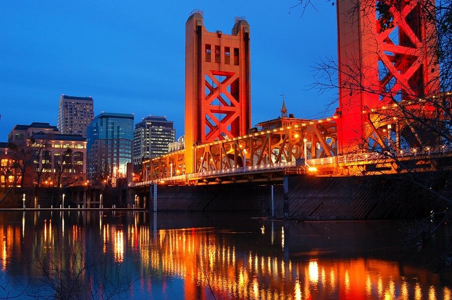 Sacramento River in the California Capital