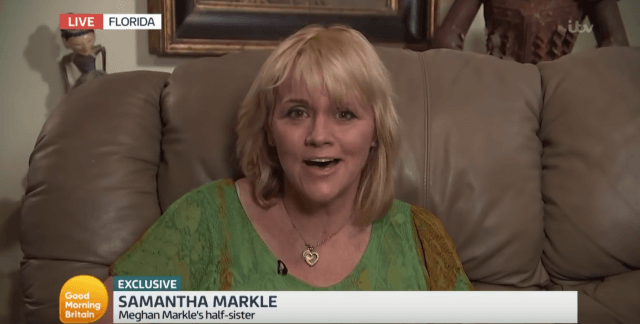 Samantha Markle during an televised interview.